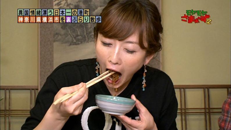 【疑似フェラキャプ画像】食レポでこんなエロい顔して視聴者の気を引こうとてるタレント達w 18