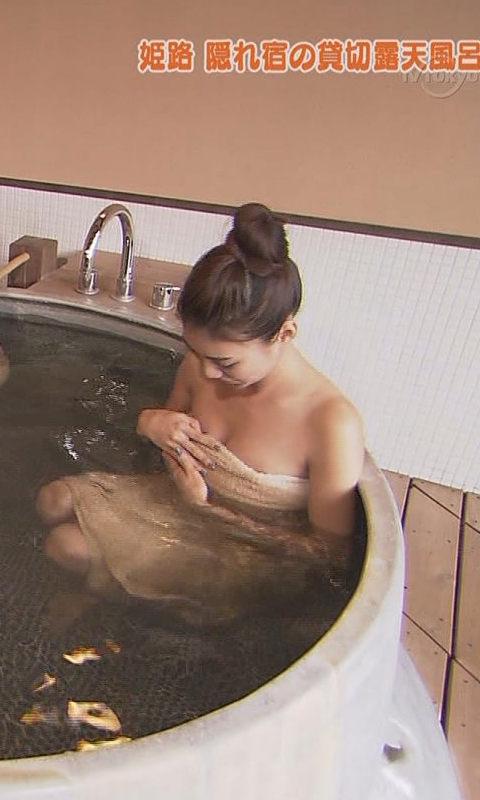 【温泉キャプ画像】やっぱりテレビで見ててもお風呂に入ってる美女ってエロく見えるよなww 06