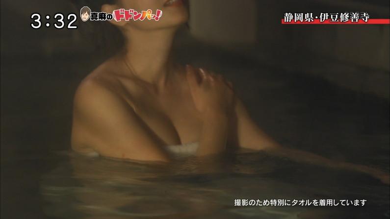 【温泉キャプ画像】やっぱりテレビで見ててもお風呂に入ってる美女ってエロく見えるよなww 09