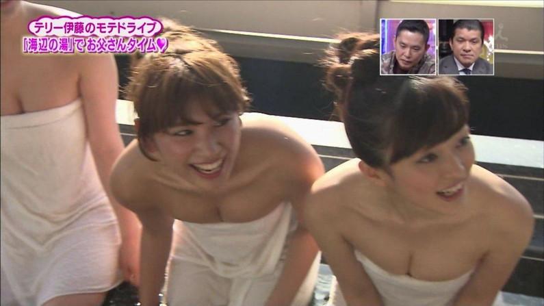 【温泉キャプ画像】やっぱりテレビで見ててもお風呂に入ってる美女ってエロく見えるよなww 23