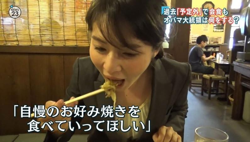 【疑似フェラキャプ画像】エロ顔満開で食レポする淫乱そうなタレント達ww 20