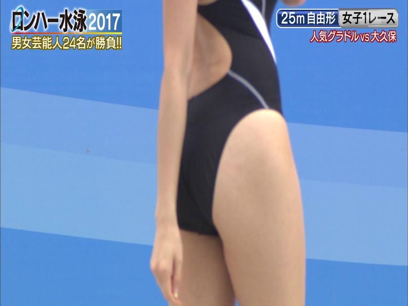 【お宝キャプ画像】ロンドンハーツの水泳大会で競泳水着が食い込みまくってやばいことにww 03