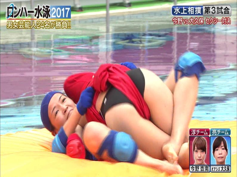 【お宝キャプ画像】ロンドンハーツの水泳大会で競泳水着が食い込みまくってやばいことにww 08