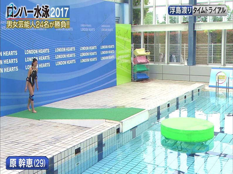 【お宝キャプ画像】ロンドンハーツの水泳大会で競泳水着が食い込みまくってやばいことにww 14