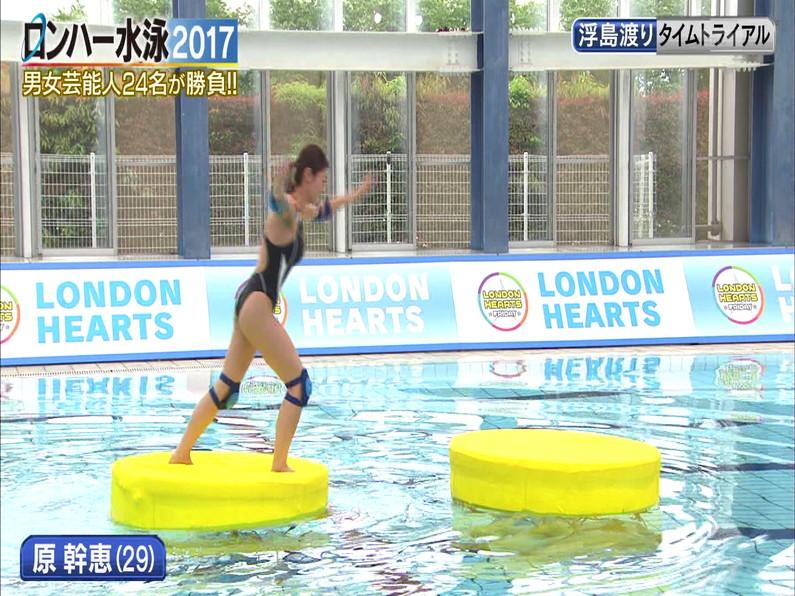 【お宝キャプ画像】ロンドンハーツの水泳大会で競泳水着が食い込みまくってやばいことにww 16