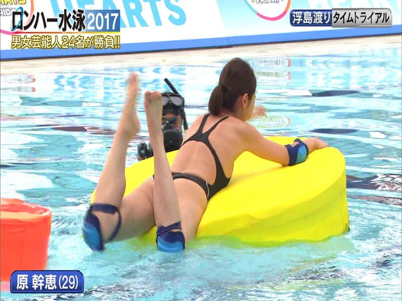 【お宝キャプ画像】ロンドンハーツの水泳大会で競泳水着が食い込みまくってやばいことにww 17