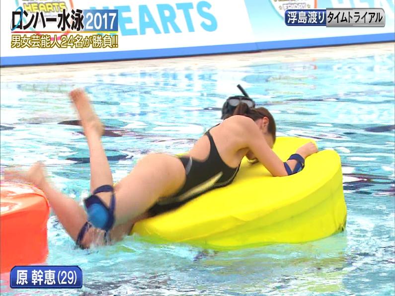 【お宝キャプ画像】ロンドンハーツの水泳大会で競泳水着が食い込みまくってやばいことにww 18