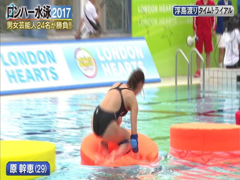 【お宝キャプ画像】ロンドンハーツの水泳大会で競泳水着が食い込みまくってやばいことにww 19