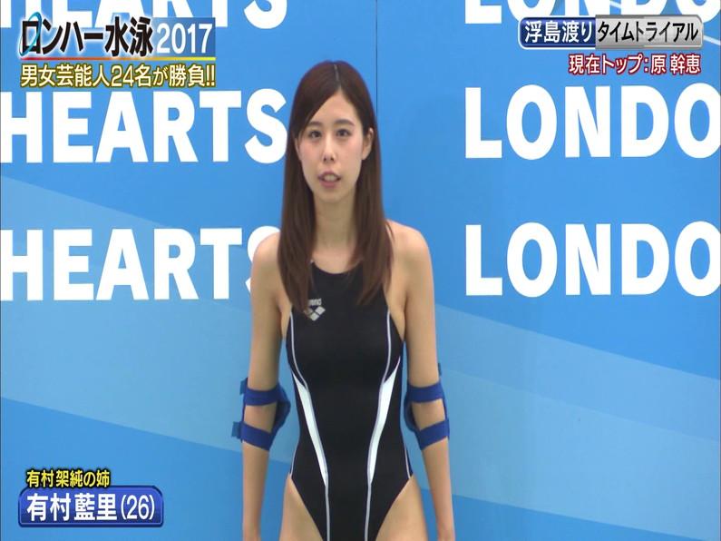 【お宝キャプ画像】ロンドンハーツの水泳大会で競泳水着が食い込みまくってやばいことにww 22