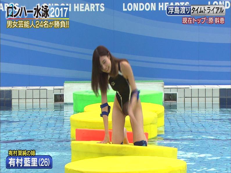 【お宝キャプ画像】ロンドンハーツの水泳大会で競泳水着が食い込みまくってやばいことにww 24