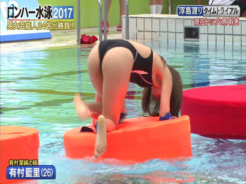 【お宝キャプ画像】ロンドンハーツの水泳大会で競泳水着が食い込みまくってやばいことにww 25