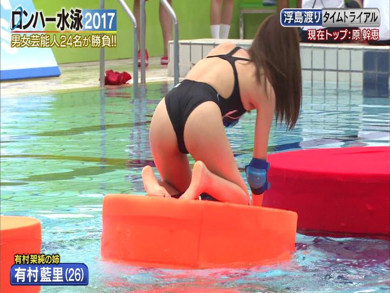 【お宝キャプ画像】ロンドンハーツの水泳大会で競泳水着が食い込みまくってやばいことにww 26