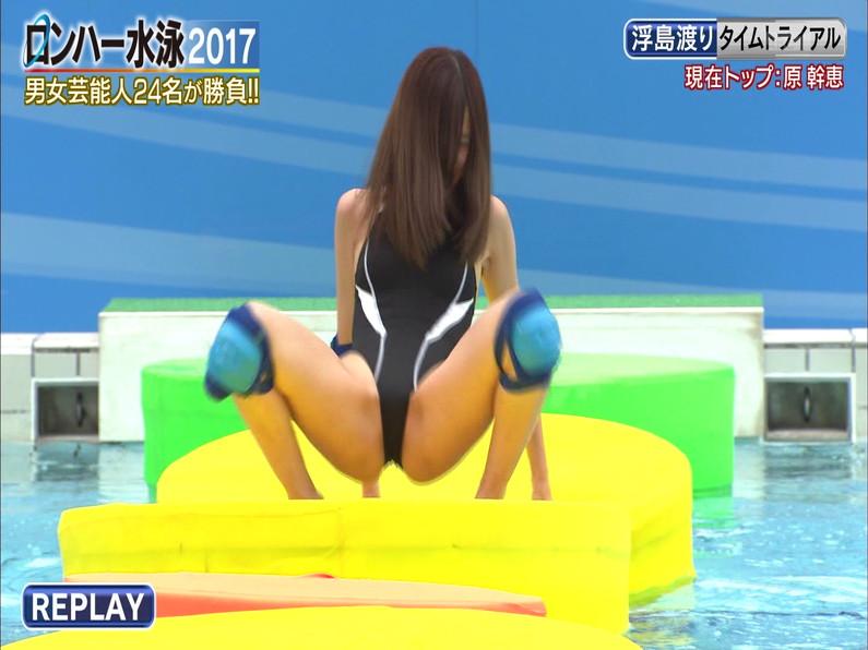【お宝キャプ画像】ロンドンハーツの水泳大会で競泳水着が食い込みまくってやばいことにww 27