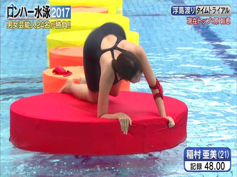 【お宝キャプ画像】ロンドンハーツの水泳大会で競泳水着が食い込みまくってやばいことにww 28
