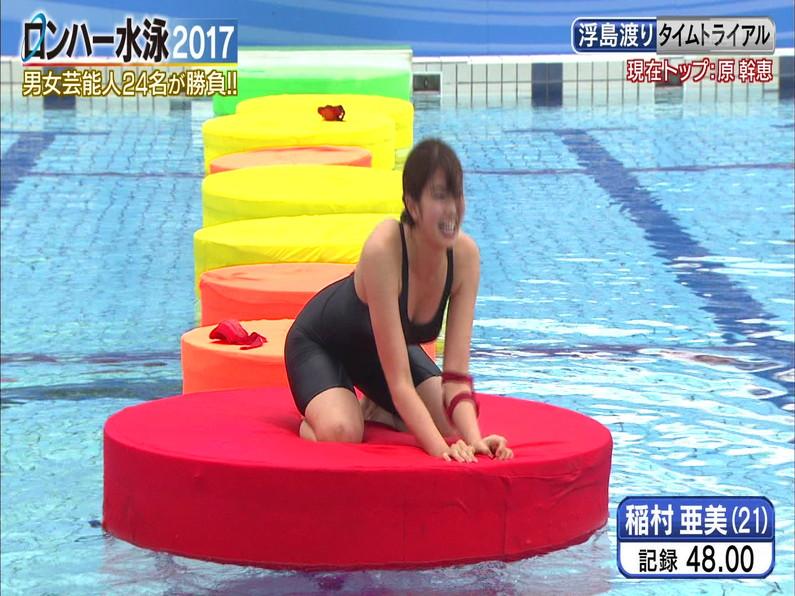 【お宝キャプ画像】ロンドンハーツの水泳大会で競泳水着が食い込みまくってやばいことにww 29