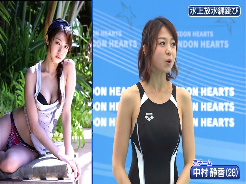 【お宝キャプ画像】ロンドンハーツの水泳大会で競泳水着が食い込みまくってやばいことにww 30