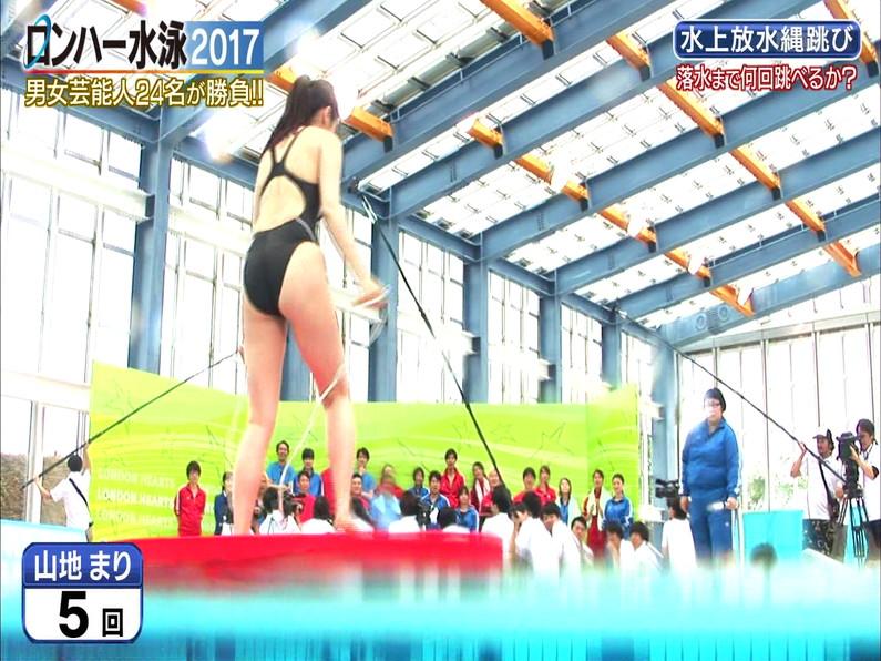 【お宝キャプ画像】ロンドンハーツの水泳大会で競泳水着が食い込みまくってやばいことにww 38