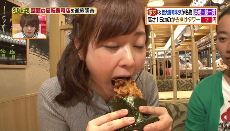 【疑似フェラキャプ画像】食レポの時にフェラ顔して夜のおかずになってくれるタレント達w 18