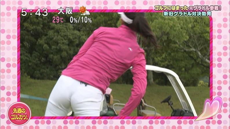 【お尻キャプ画像】ピタパン履いたお尻の形がくっきりなタレント達w