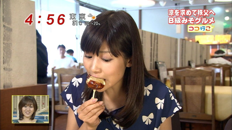 【疑似フェラキャプ画像】食レポするとどうしてもエロい顔になっちゃうスケベタレント達w 21
