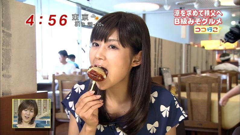 【疑似フェラキャプ画像】食レポするとどうしてもエロい顔になっちゃうスケベタレント達w 22