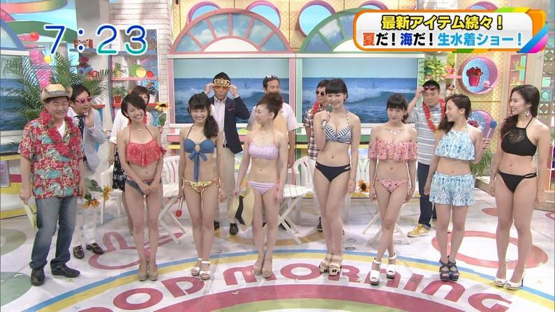 【水着キャプ画像】早くも今年の流行りの水着がテレビに紹介されだしたぞw 13