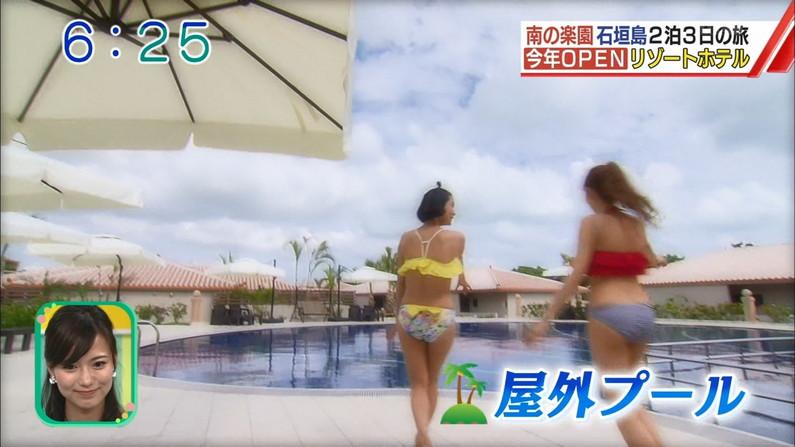 【お尻キャプ画像】水着姿や下着姿でテレビに出る美女達のハミ尻がたまらんw 03