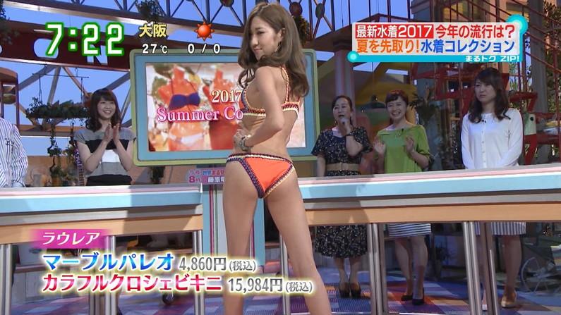 【お尻キャプ画像】水着姿や下着姿でテレビに出る美女達のハミ尻がたまらんw 06