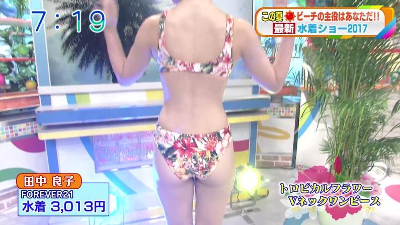 【お尻キャプ画像】水着姿や下着姿でテレビに出る美女達のハミ尻がたまらんw 12