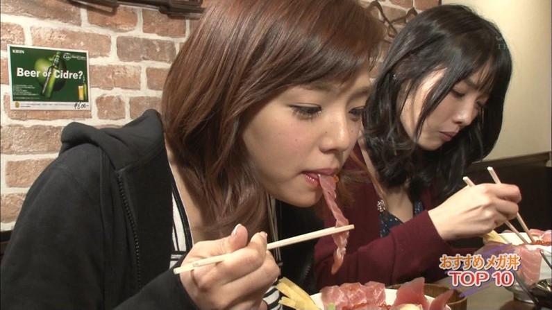 【疑似フェラキャプ画像】食レポでエロい食べ方するタレント達w 14