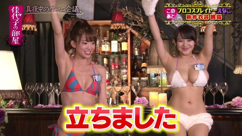 【水着キャプ画像】夏だ!水着だ!デカパイだ―wテレビに映るビキニ美女エロww 04