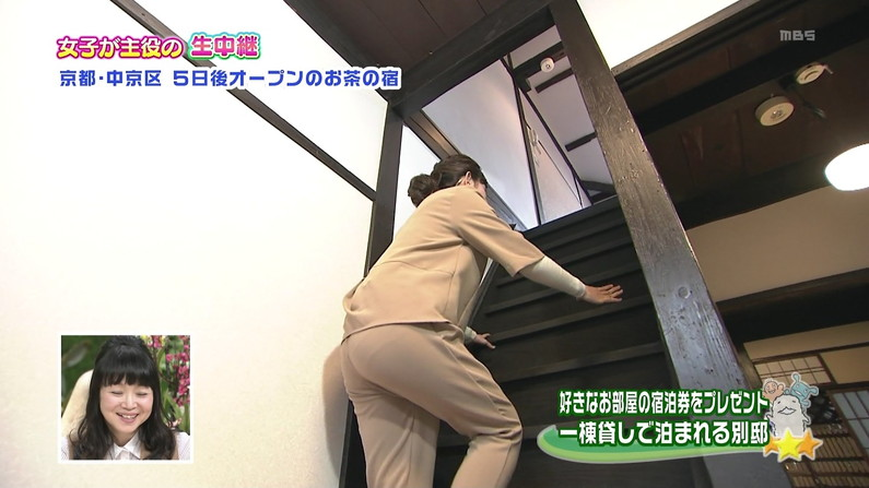 【お尻キャプ画像】お尻のライン丸わかりなピタパン履いてるタレント達のお尻エロww 09