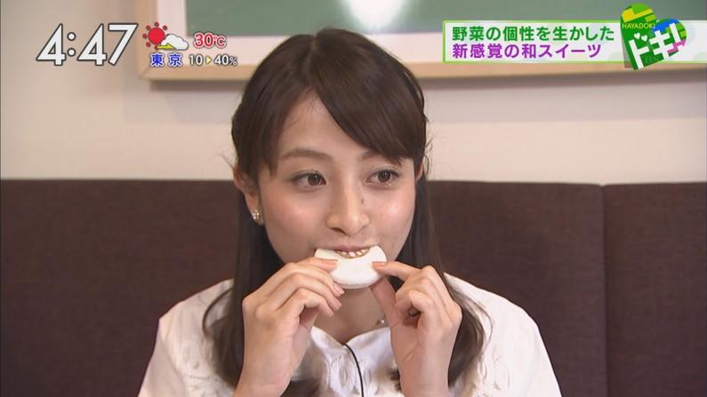 【疑似フェラキャプ画像】大きな口開けてドスケベな顔しながら食レポしちゃうタレント達w 11