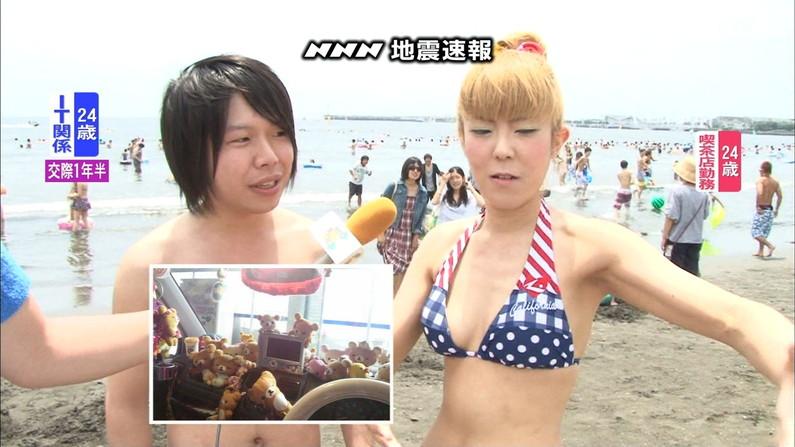 【水着キャプ画像】今年もこの光景が見れるのはもぉ間近wテレビに映されたエロい水着の素人達w 24