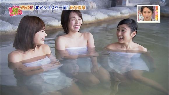 【温泉キャプ画像】テレビだからこそ見れる温泉レポする美女達の入浴姿w 05