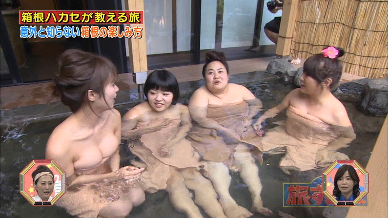【温泉キャプ画像】テレビだからこそ見れる温泉レポする美女達の入浴姿w 11