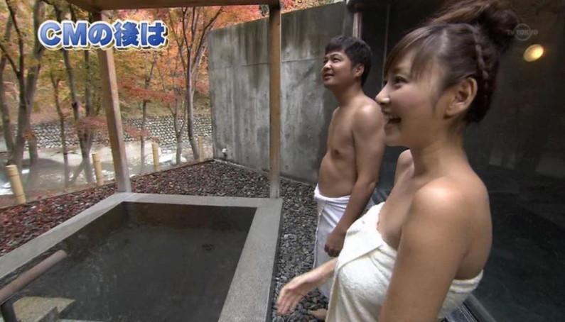【温泉キャプ画像】テレビだからこそ見れる温泉レポする美女達の入浴姿w 16