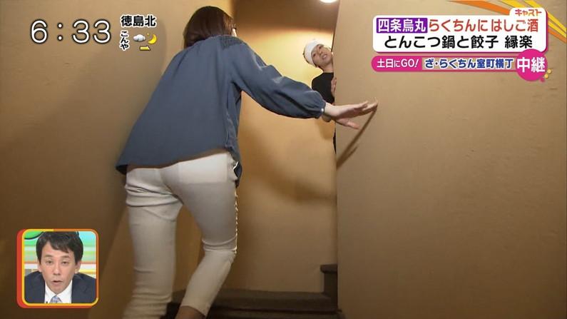 【お尻キャプ画像】タレント達がピタパン履いてパン線まで見せまくりww 08