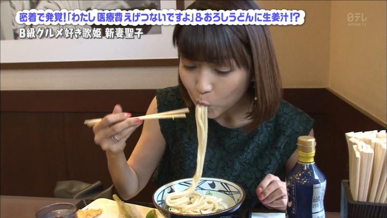 【疑似フェラキャプ画像】食レポする時どうしてもフェラ顔になっちゃうスケベなタレント達w 17