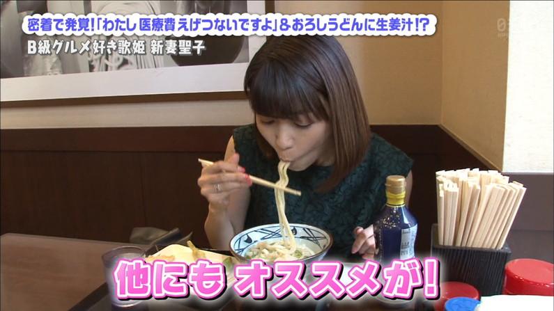 【疑似フェラキャプ画像】食レポする時どうしてもフェラ顔になっちゃうスケベなタレント達w 19