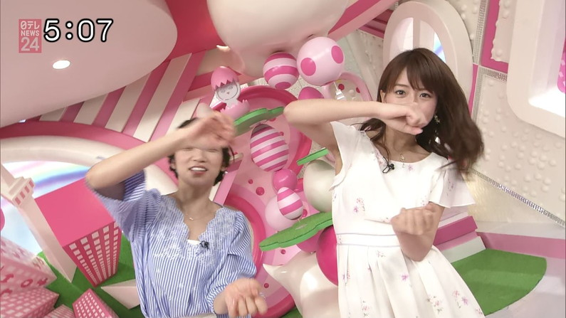 【脇キャプ画像】女子アナやアイドルの脇マンコがエロくてヤバイw 11