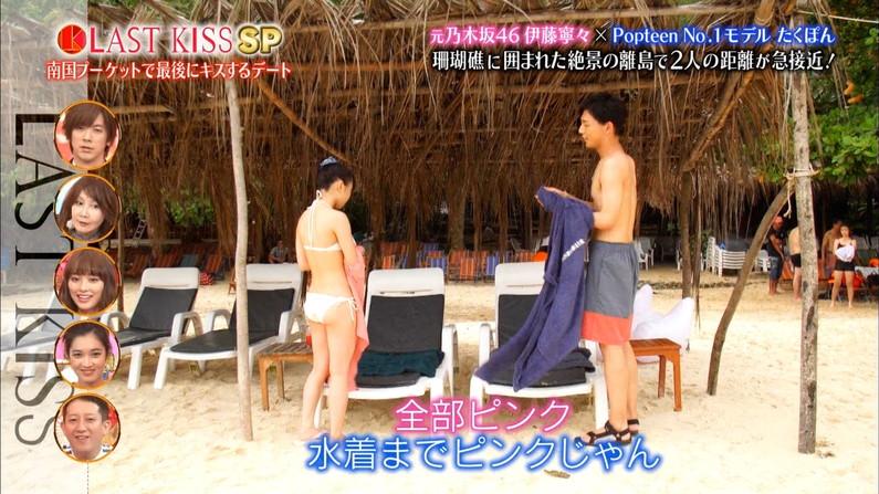【お尻キャプ画像】テレビに映る水着美女のぷっりぷりのお尻がはみ出しすぎww 05