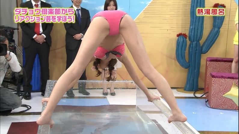 【ハミマン放送事故画像】テレビで思いっきりお股広げすぎてハミマンしちゃうタレント達w 08