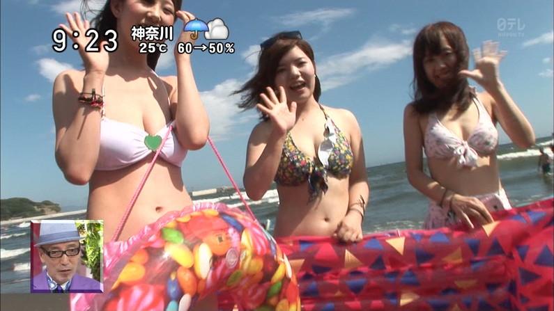 【水着キャプ画像】今夏テレビに映った素人のエッチなビキニ姿がすでにやべーw