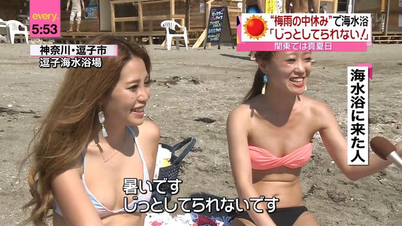 【水着キャプ画像】今夏テレビに映った素人のエッチなビキニ姿がすでにやべーw 05