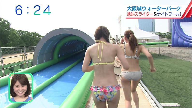 【お尻キャプ画像】テレビに水着からハミ尻しまくりの美女が映りまくってるんだけどw 10