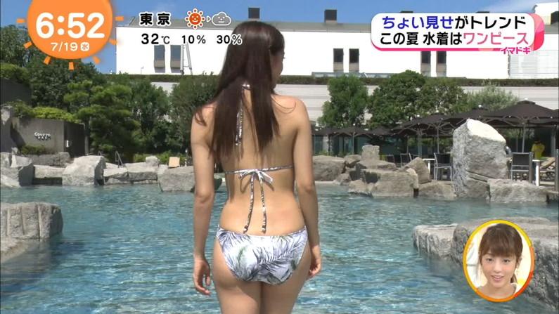 【お尻キャプ画像】テレビに水着からハミ尻しまくりの美女が映りまくってるんだけどw 19