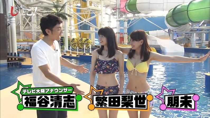 【水着キャプ画像】水着タレントの稼ぎ時!テレビにエロい水着着た美女達が映りまくってるぞw 03