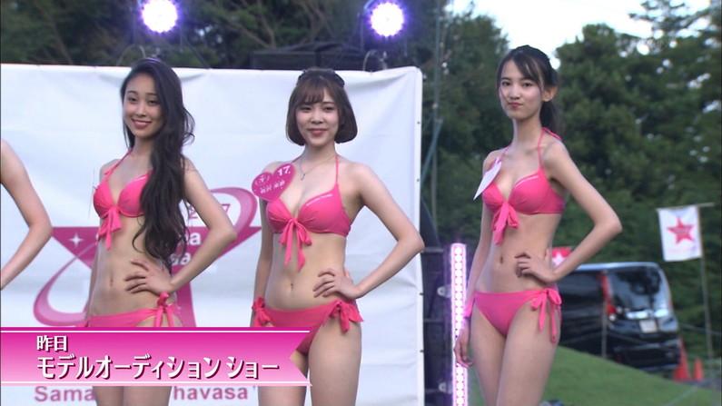【水着キャプ画像】水着タレントの稼ぎ時!テレビにエロい水着着た美女達が映りまくってるぞw 08