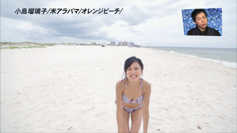 【水着キャプ画像】水着タレントの稼ぎ時!テレビにエロい水着着た美女達が映りまくってるぞw 13